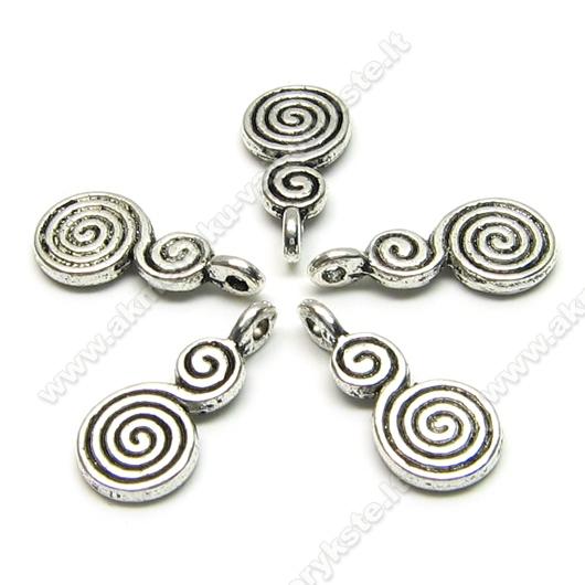 "Tibeto sidabro pakabutis ""Spiralė"" 17 mm"