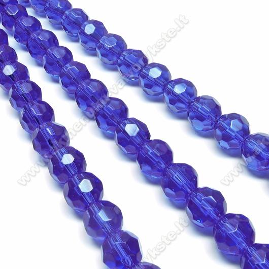Stiklas facetuotas mėlynas 10 mm