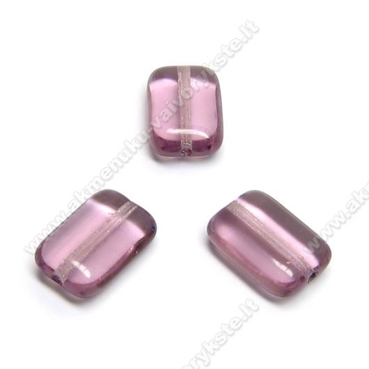 Alyvinis stiklas stačiakampės pagalvėlės formos 12x8 mm