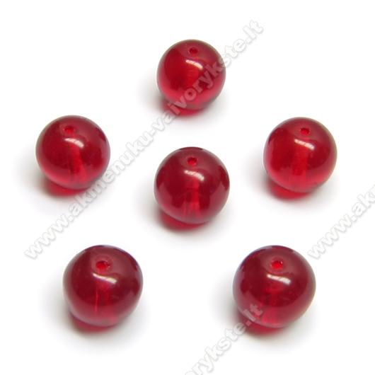 Raudonas stiklas rutuliuko formos 10 mm