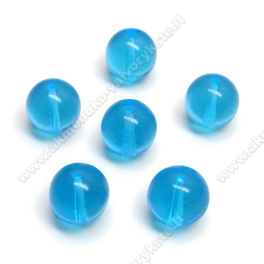 Žydras stiklas rutuliuko formos 12 mm