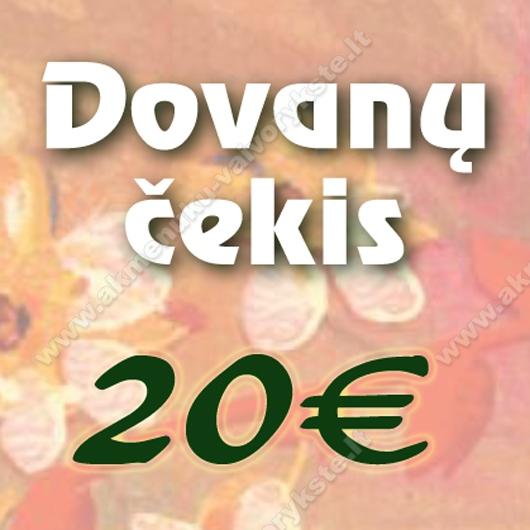 Dovanų čekis 20€ vertės