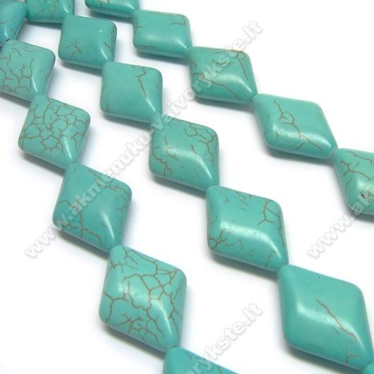 Hovlitas turkio spalvos rombo formos 25x19 mm
