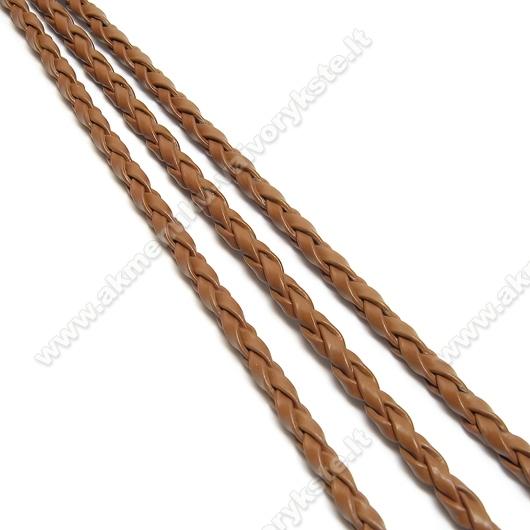 Rudas odinis pintas dirželis su užsegimu 44 cm