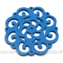Medinis pakabukas mėlynas 4,5 cm