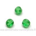 Briaunuotas stiklo karoliukas žalias 6 mm