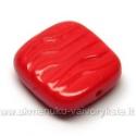 Stačiakampis stiklas raudonas 16x15 mm