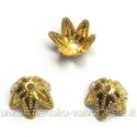 Aukso spalvos kepurėlės gėlytės formos 6 mm