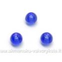 Mėlynas stiklas rutuliuko formos 6 mm