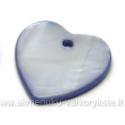 Kriauklės pakabukas melsvas širdelės formos 17x17mm