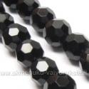 Stiklas facetuotas juodas 10 mm