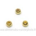 Metaliniai karoliukai aukso spalvos 3 mm 100 vnt.