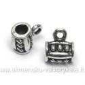 Tibeto sidabro pakabutis - laikiklis 9x6,5 mm