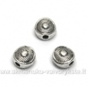 Tibeto sidabro intarpai diskelio formos 6 mm
