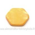 Kriauklės šešiakampiai geltoni 19 mm