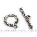 Tibeto sidabro užsegimas 12 mm