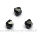 Čekiškas stiklas juodas dvipusio konuso formos 4 mm