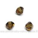 Čekiškas stiklas rudas dvipusio konuso formos 4 mm