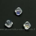 Čekiškas stiklas skaidrus dengtas AB danga dvipusio konuso formos 4 mm