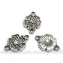 Tibeto sidabro sujungimas gėlytės formos 16 mm