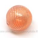 Pūstas stiklas oranžinis rutulio formos 20 mm