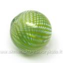 Pūstas stiklas žalias rutulio formos 20 mm