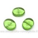 Ovalinis žalias stiklinis karoliukas 10x12 mm
