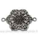 Šešialapio žiedo formos stambus tibeto sidabro sujungimas 41x28 mm