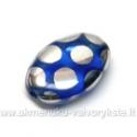 Stiklas mėlynas taškuotas 16x11 mm