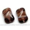 Stiklas rudas margas pagalvėlės su briauna formos 14 mm