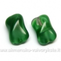 Stiklas žalias margas pagalvėlės su briauna formos 14 mm