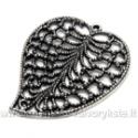 Ažūrinis tibeto sidabro pakabutis lapo formos 45x37 mm