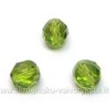 Facetuotas stiklas žalių samanų spalvos 8 mm
