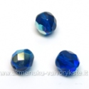 Facetuotas stiklas mėlynas dengtas AB danga 8 mm