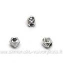 Smulkūs kvadratuko fromos tibeto sidabro intarpai 3.5 mm