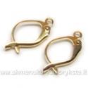 Paauksuotų auskarų užsegimų pora 18 mm