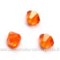 Čekiškas stiklas oranžinis dvipusio konuso formos 4 mm