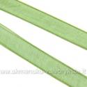 Organzos juostelė žalia 6 mm pločio