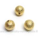 """Aukso spalvos metaliniai karoliukai """"žvaigždžių dulkės"""" 10 mm"""