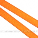 Atlasinė juostelė oranžinė 6 mm pločio