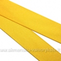 Atlasinė geltona dvipusė juostelė 25 mm pločio