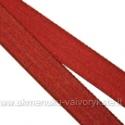 Atlasinė tamsiai raudona juostelė 16 mm pločio