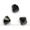 Čekiškas stiklas juodas dvipusio konuso formos 5 mm