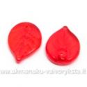 Raudoni stikliniai lapeliai 18x13 mm