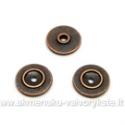 Sendinto vario spalvos intarpas įspausto diskelio formos 9 mm