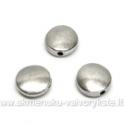 Sidabro spalvos intarpas - apvalus diskelis 9 mm