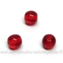 Raudonas stiklas rutuliuko formos