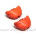 """Oranžinis  hovlito """"laivelis"""" 15x10 mm"""