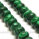 Malachitas dirbtinis rondelės formos 10 mm