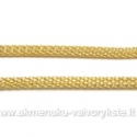 Aukso spalvos grandinėlė su užsegimu 44 cm